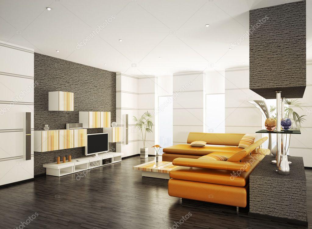 현대 거실 인테리어 3d 렌더링 — 스톡 사진 © scovad #4813293