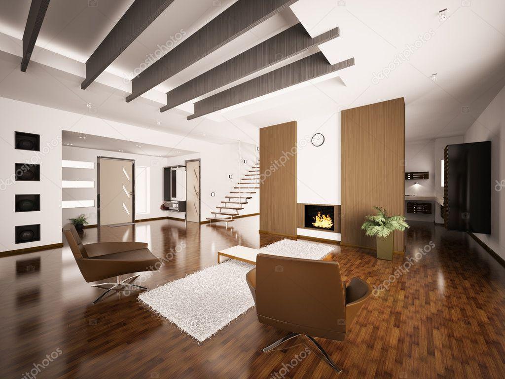 Rendering 3d interni di appartamento moderno foto stock for Piani di appartamenti moderni