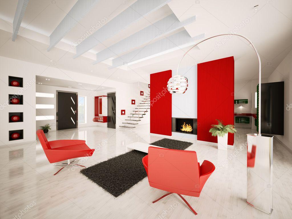 Rendering 3d interni di appartamento moderno foto stock for Rendering 3d interni
