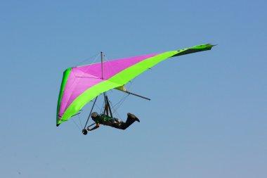 Hang gliding in Crimea taken in summer