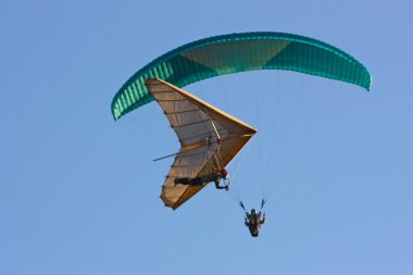 Paraglider flight in Crimea