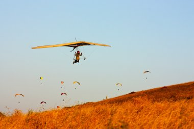 Hang gliding in Crimea taken in summer