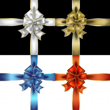 Gift ribbons and bows vector objects