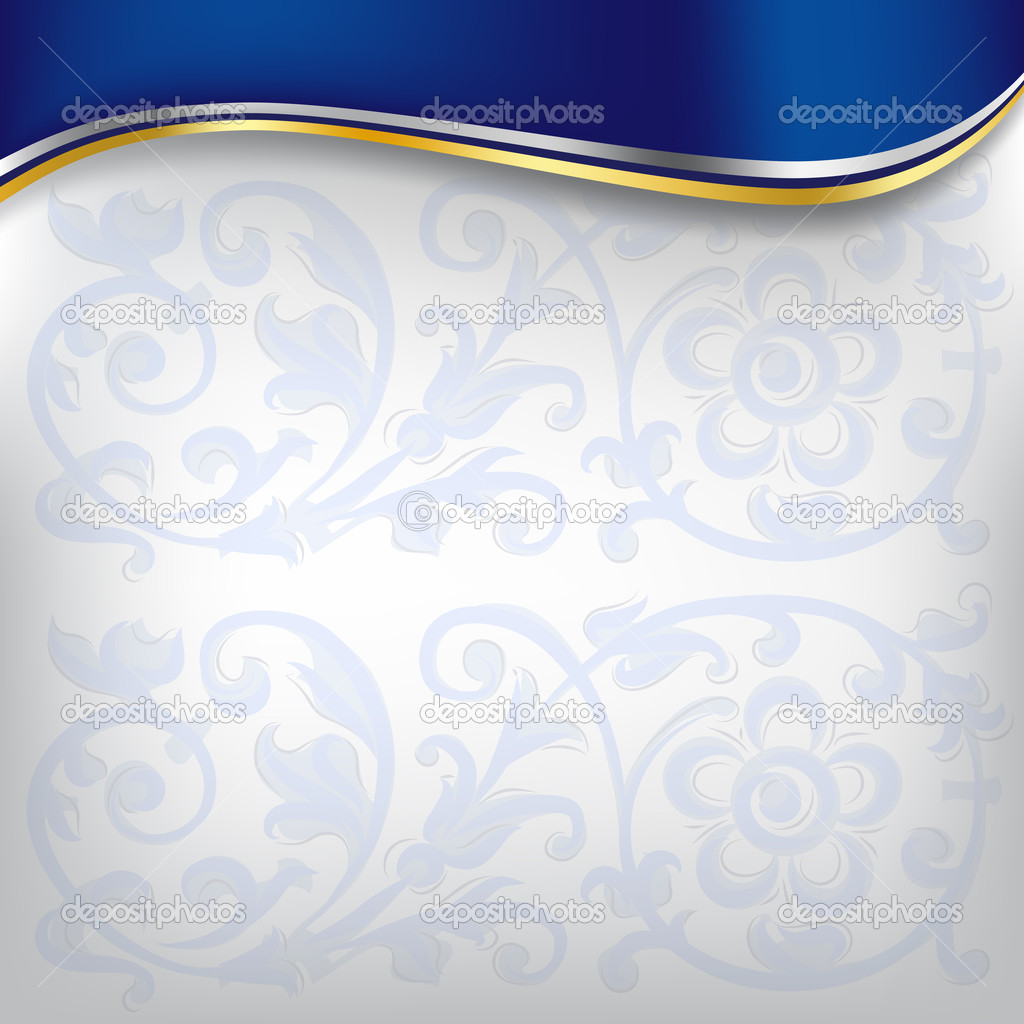 Golden wave on blue background