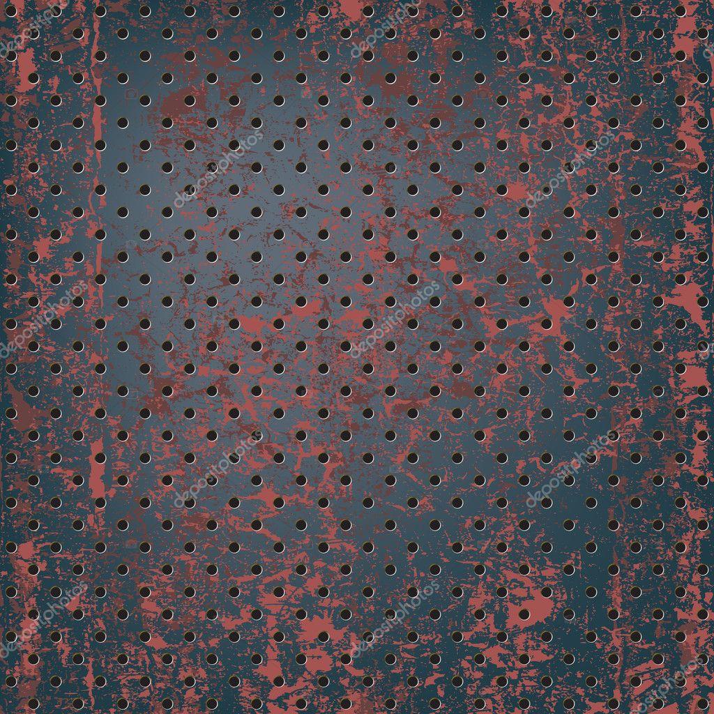 Texture of rusty metal mesh