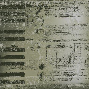 Abstract jazz background piano keys on grey