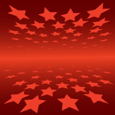 Abstract background red stars