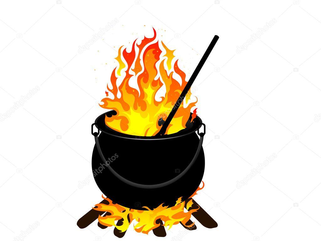 witches cauldron stock vector  u00a9 sarininka 3994963 Halloween Vector Graphics Halloween Background Vector