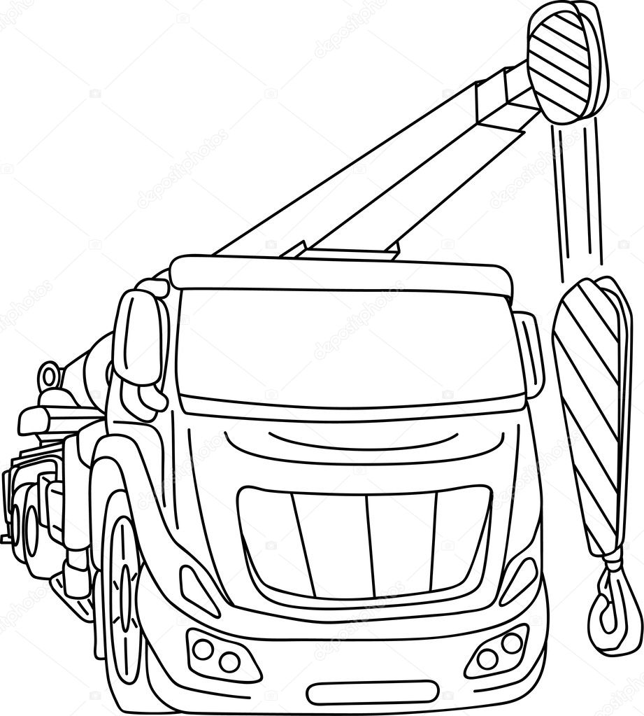 Big Crane Stock Vector C Pavelmidi 4448118