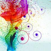 Fotografie barevný nátěr šplouchání. vektor přechodu pozadí