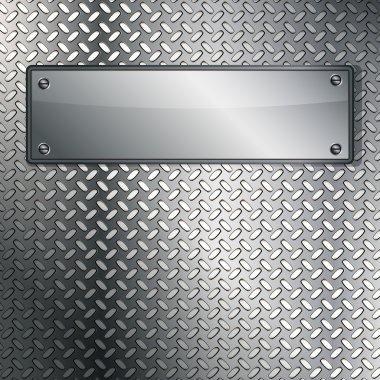 Fluted metal texture. Vector Illustration stock vector