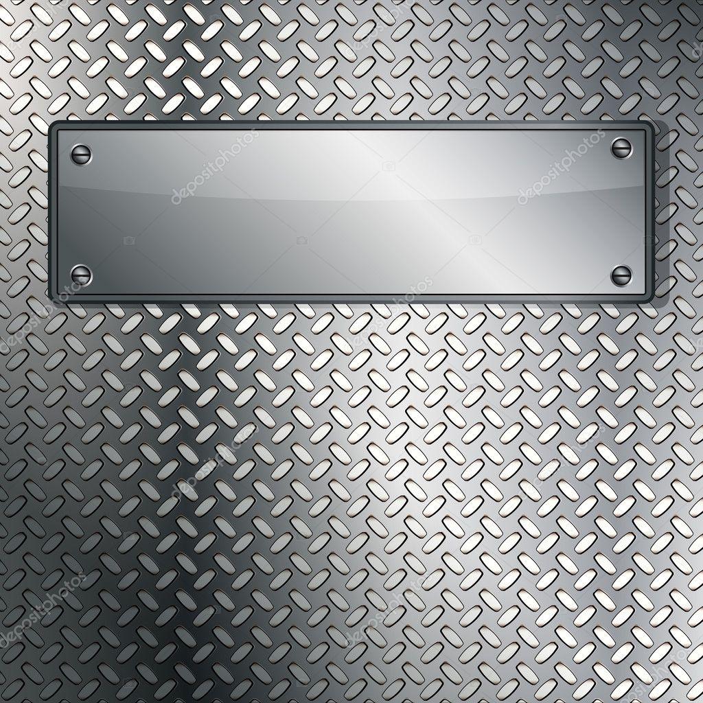 Fluted Metal Texture. Vector Illustration