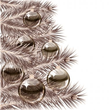 Christmas tree and transparent balls