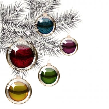 Christmas tree and transparent balls