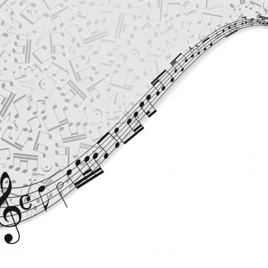 Music background with a musical theme and the place for your tex