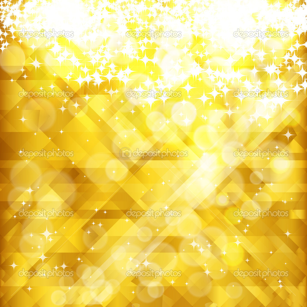 Stars golden background and place for your text