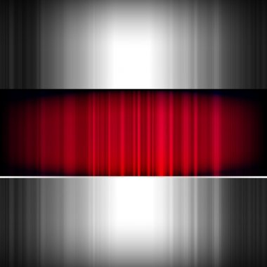 Abstract background, metallic and red, vector.
