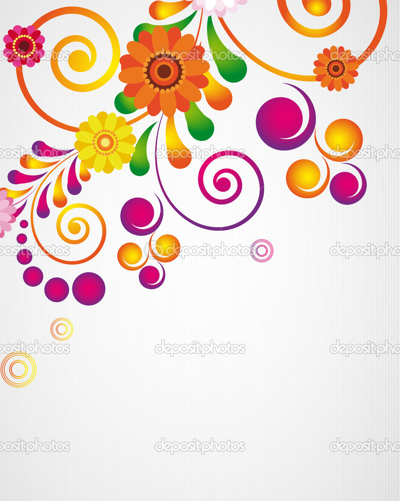 Gift Card Floral Design Background Stock Vector C Olgayakovenko
