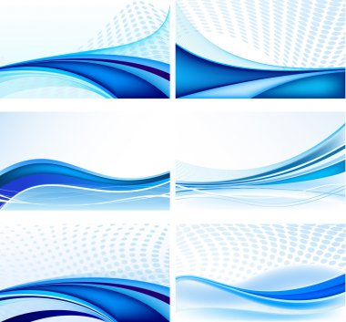 Abstract background vector set stock vector