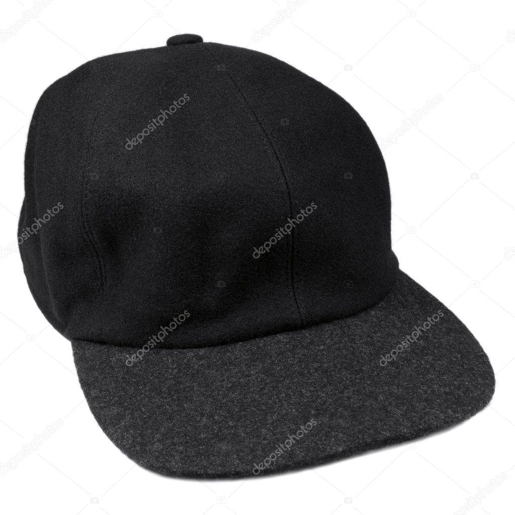 63c5d7e8cfaf4 Lã fina preta estilo boné com aba cinza