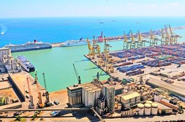 View of huge sea port