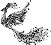 Dekoratív madár elszigetelt fehér background