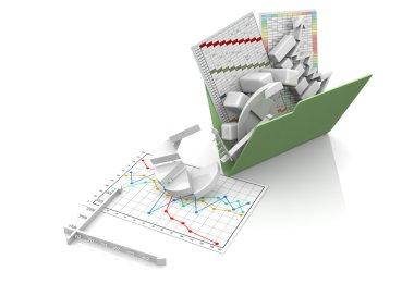 Business chart, diagram, bar, graphic
