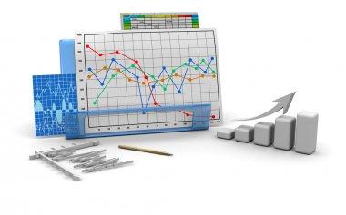 Business finance graphic, diagram. chart, bar