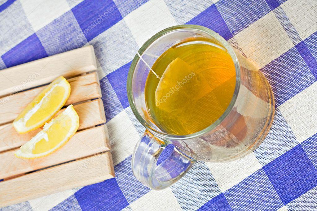 Grüner Tee Gesund Heißgetränk Und Zitrone Stockfoto Blackyze