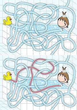 Bathroom maze