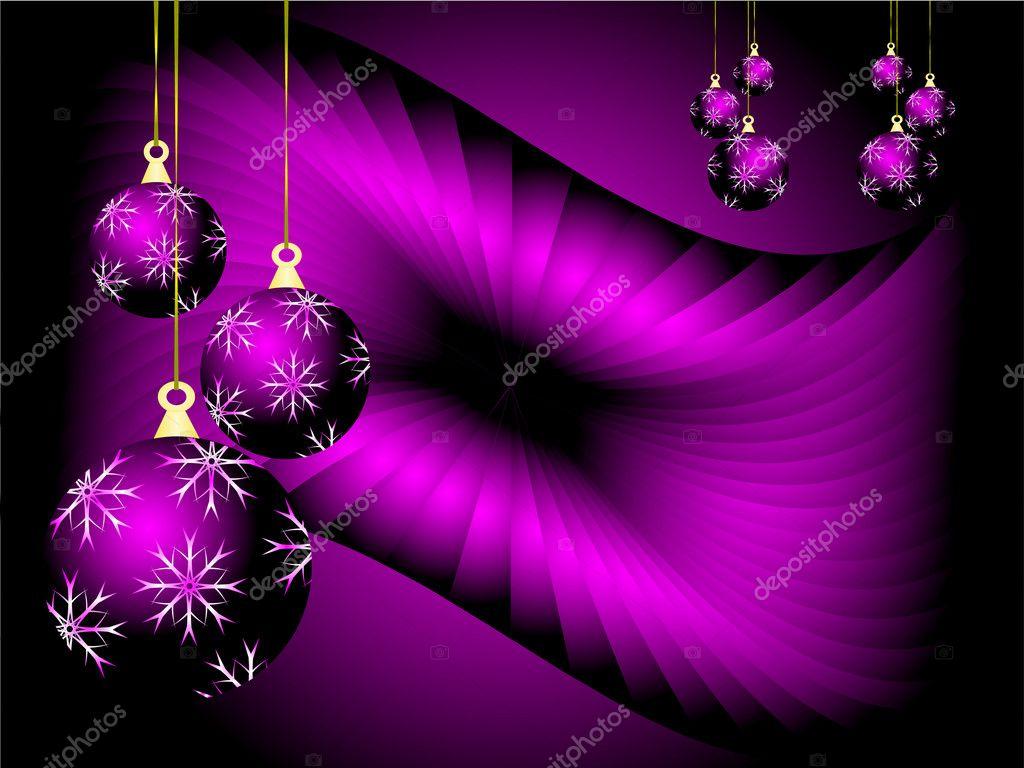 Paarse kerst vector achtergrond stockvector mhprice - Purple christmas desktop wallpaper ...