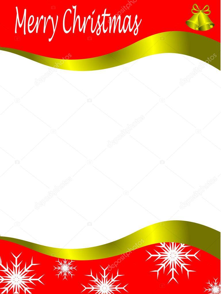 Vector Christmas Stationary Wirh Top And Bottom Border Stock