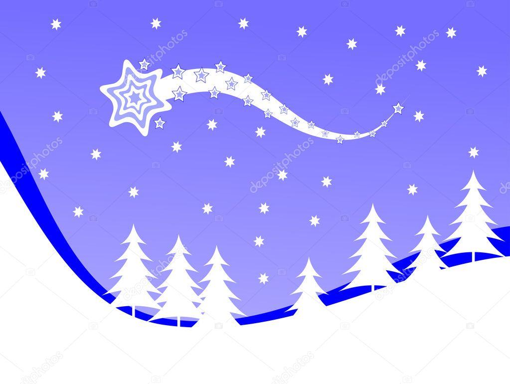 weihnachten Winter Szene Hintergrund — Stockvektor © mhprice #4277879