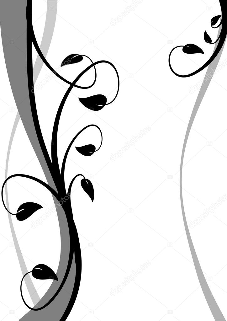 Un astratto sfondo floreale bianco e nero vettoriali for Scarica clipart