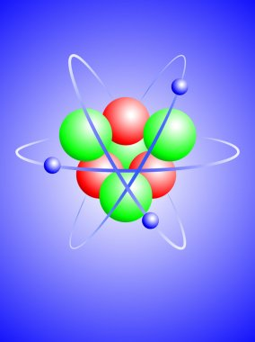 A vector illustration of a lithium atom