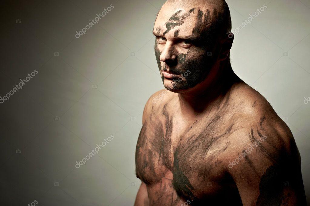 Portrait Affectif De Chasse Peinture De Guerre Photographie