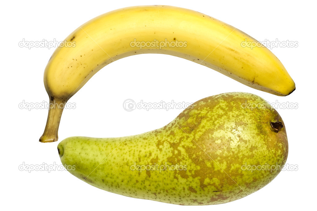 Banana and pear