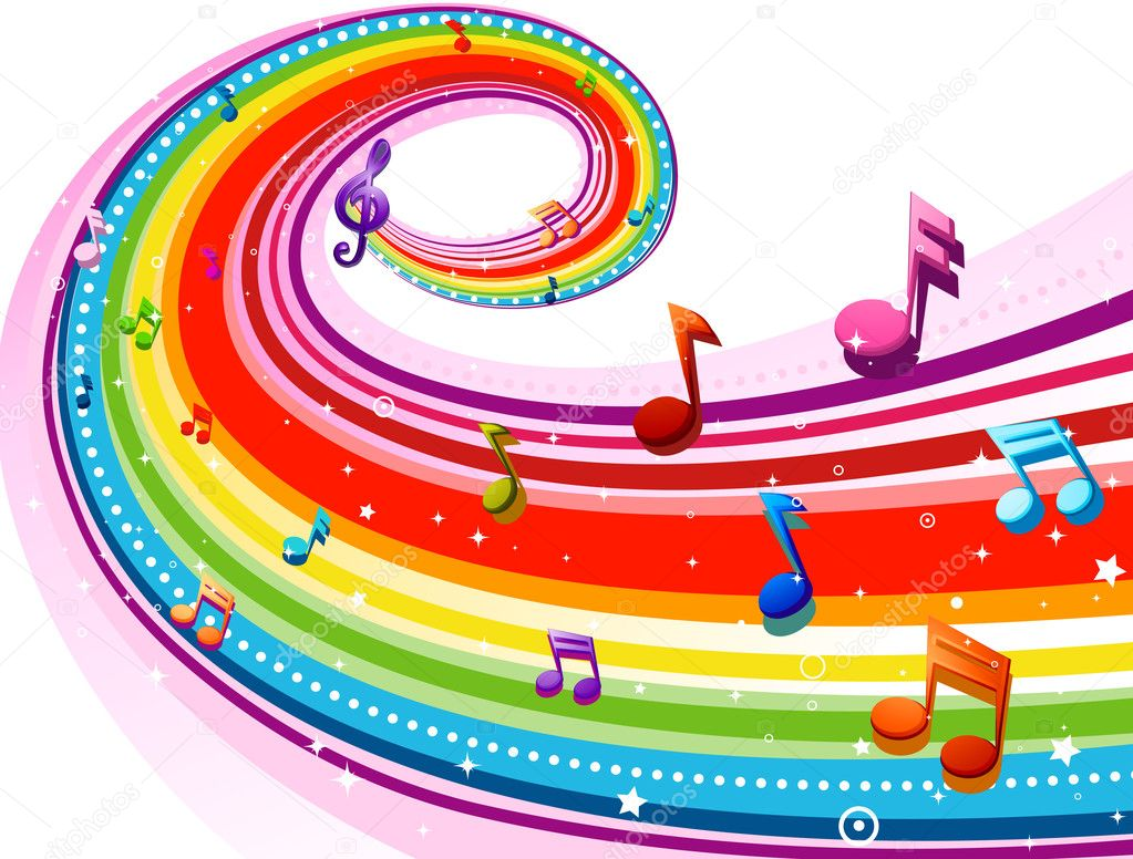 Rainbow Music Stock Images: Stock Photo © Lenmdp #4009755