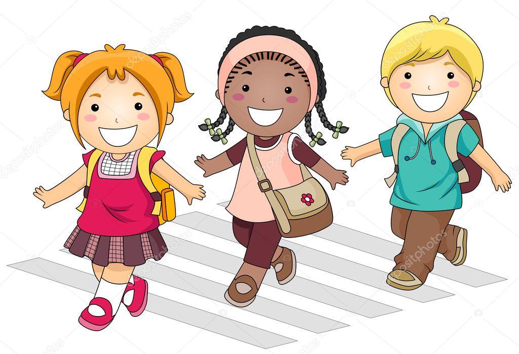 Imágenes Niños Llendo A La Escuela Ir A La Escuela Foto De