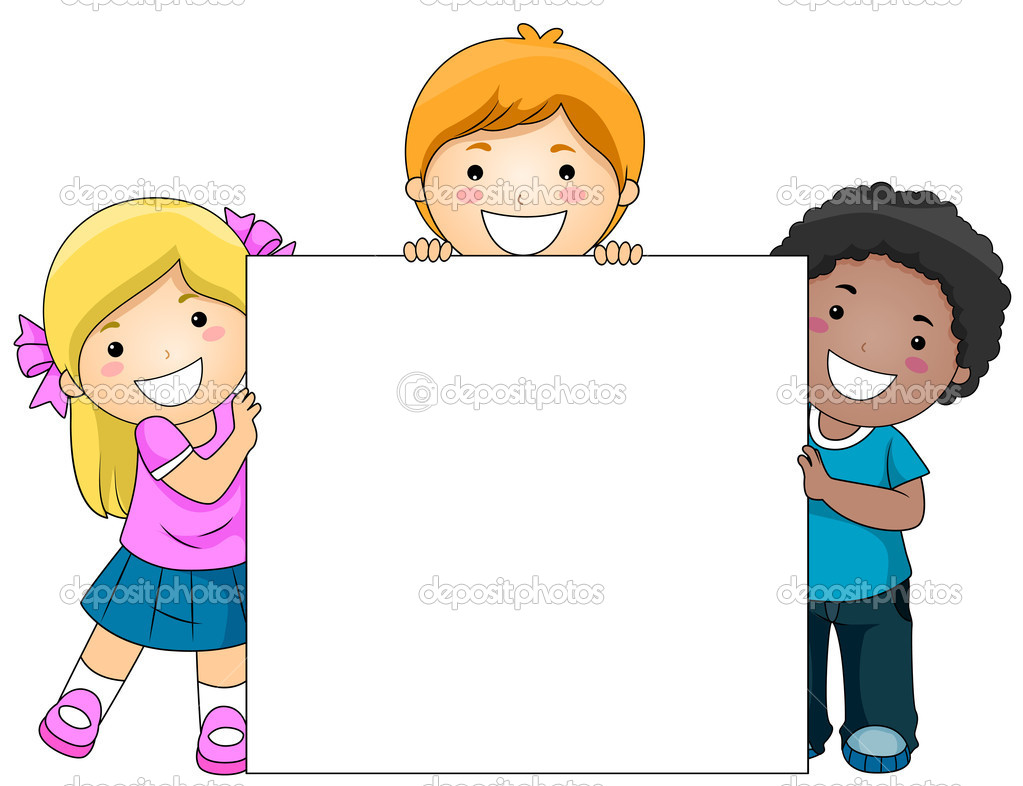 Kids With Blank Board Stock Photo 169 Lenmdp 4010090