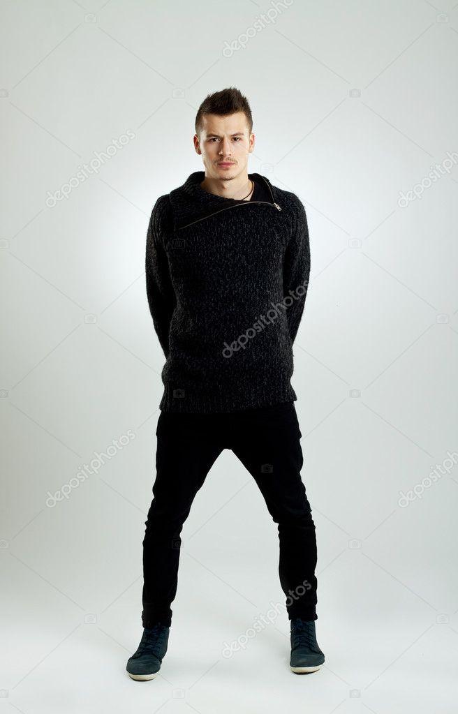 Человек в зимней одежде — Стоковое фото © feedough #4633069