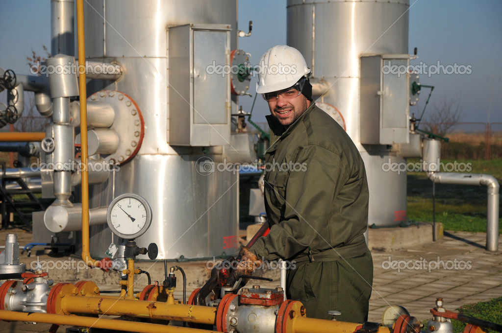 Worker in the oil industry