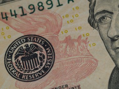 The US 10 Dollar Bill Showing Seal and Torch