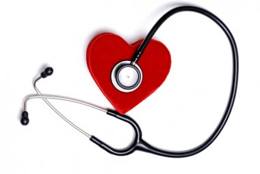 Stethoscope with a red heart box