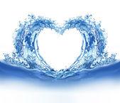 Fotografie blaues Wasser Herz