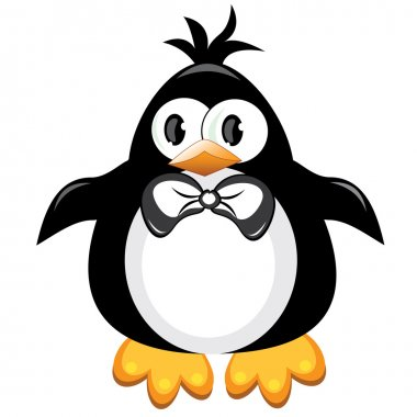 Penguin cartoon bird. Boy.