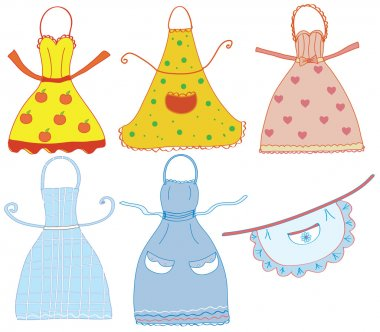 Funny aprons set