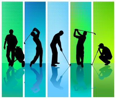 Five golf player