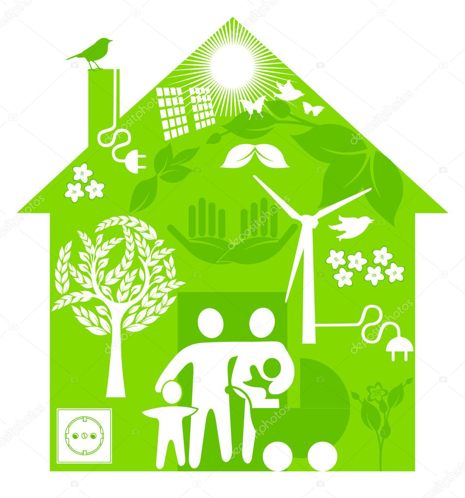 Ecological home stock vector scusi0 9 4913413 for Ecological home