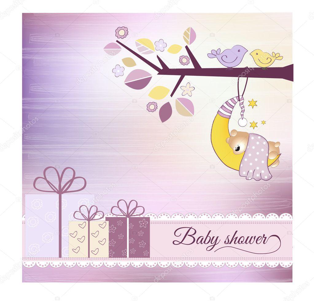 Babyparty Einladung U2014 Stockvektor #4207592